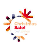 Christmas and New Year sale banner. Vector illustration Stock Photography