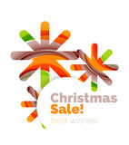 Christmas and New Year sale banner. Vector illustration Royalty Free Stock Photo