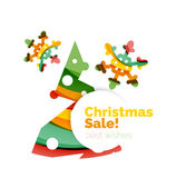 Christmas and New Year sale banner. Vector illustration stock illustration