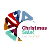 Christmas and New Year sale banner. Vector illustration vector illustration