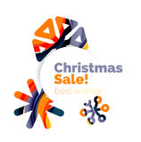 Christmas and New Year sale banner. Vector illustration Stock Photo