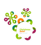 Christmas and New Year sale banner. Vector illustration royalty free illustration