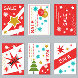 Christmas and New Year sale booklets Royalty Free Stock Images