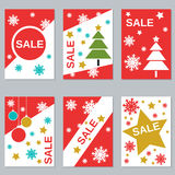 Christmas and New Year sale booklets Stock Photos
