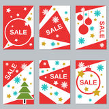 Christmas and New Year sale booklets Stock Images