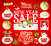 Christmas and New year sale designs, banners. Royalty Free Stock Photos