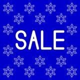 Christmas and New Year sale. Blue background. Snowflakes from ethnic ornaments. Christmas and New Year sale. Event concept. Blue background. Snowflakes from royalty free illustration