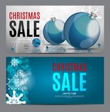 Christmas and New Year Sale Gift Voucher, Discount Coupon Template Vector Illustration Royalty Free Stock Image