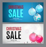 Christmas and New Year Sale Gift Voucher, Discount Coupon Template Vector Illustration Stock Photo