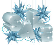 Christmas or New Year Sale Ornaments Stock Photos