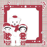 Christmas and New Year scrapbook card Royalty Free Stock Image