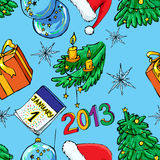 Christmas and New Year seamless Royalty Free Stock Photography