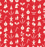 Christmas and New Year Seamless background pattern Stock Image