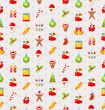 Christmas and New Year Seamless background pattern Royalty Free Stock Photo