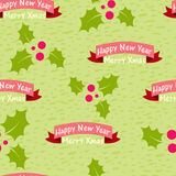 Christmas and New Year seamless background Royalty Free Stock Photo