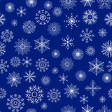 Christmas and New Year seamless blue pattern Royalty Free Stock Photos