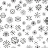 Christmas and New Year seamless gray pattern. Snowflakes. Vector Illustration vector illustration