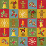 Christmas and New Year seamless pattern Royalty Free Stock Photography