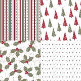 Christmas and New Year seamless pattern Stock Photo