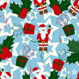 Christmas and New Year seamless pattern Stock Photography