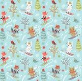 Christmas new year seamless pattern Royalty Free Stock Image