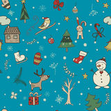 Christmas and New Year seamless pattern Royalty Free Stock Photo