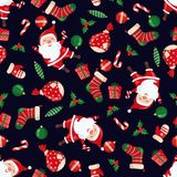Christmas and New Year seamless pattern. Royalty Free Stock Photography