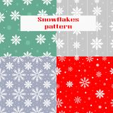 Christmas, new year seamless pattern with snowflakes. royalty free illustration
