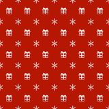 Christmas New Year seamless pattern with snowflakes gift present. Holiday background. Xmas winter trendy decoration Royalty Free Stock Photos