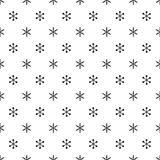 Christmas New Year seamless pattern with snowflakes. Holiday background. Snowflakes. Xmas winter trendy decoration Stock Photo