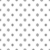 Christmas New Year seamless pattern with snowflakes. Holiday background. Snowflakes. Xmas winter trendy decoration Stock Images