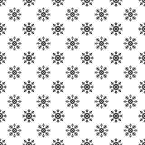 Christmas New Year seamless pattern with snowflakes. Holiday background. Snowflakes. Xmas winter trendy decoration. Festive texture. Hand drawn vector Stock Photography