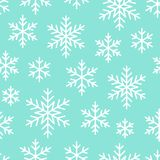 Christmas, new year seamless pattern, snowflakes line illustration. Vector icons of winter holidays, cold season snow Royalty Free Stock Photography