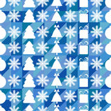 Christmas and New Year seamless pattern Stock Photos