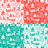 Christmas and New Year seamless pattern with snowflakes Royalty Free Stock Photos