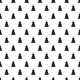 Christmas New Year seamless pattern with christmas tree. Holiday background. Christmas tree. Xmas winter trendy doodle Royalty Free Stock Image