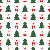 Christmas and New Year seamless pattern. On white background Stock Photo