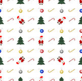 Christmas and New Year seamless pattern. On white background Stock Photos