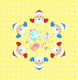 Christmas and New Year seamless pattern Stock Images