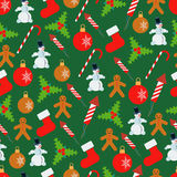 Christmas and New Year seamless vector background Stock Image