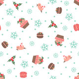 Christmas and New Year seamless vector pattern Royalty Free Stock Images