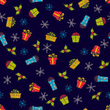 Christmas and New Year seamless vector pattern Stock Images
