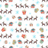 Christmas and New Year seamless vector pattern Royalty Free Stock Image