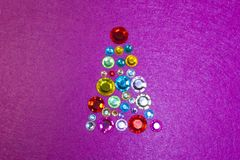 Christmas New year sequins tinsel tree two thousand and eighteenth year Royalty Free Stock Photos