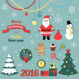 Christmas  and new year set -decorative elements.  Royalty Free Stock Image
