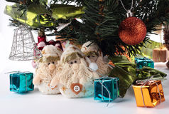 Christmas and New year set. Snowmen Royalty Free Stock Photos