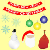 Christmas and New Year set Royalty Free Stock Image