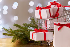 Christmas and New Year shopping. Stock Images