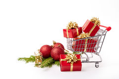 Christmas and New Year shopping. Stock Image