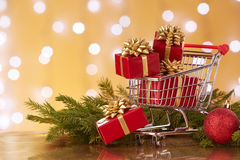 Christmas and New Year shopping. Royalty Free Stock Photography